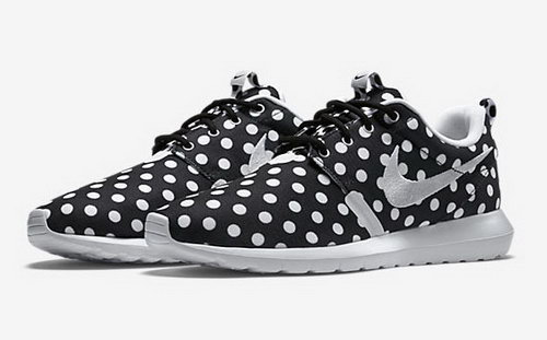 Nike Roshe Run Speckle Pattern Black Whtie 40-44 Greece